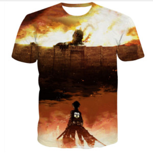 Hot Sale New Fashion Womens Mens Classic Anime Sublimation Size Titan Print Attack 3D TX061 T-shirts Plus Funny On Lekwa
