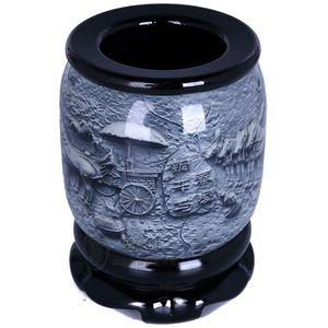 Nakliye yüksek dereceli kristal kabartma kalem Xi'an Terracotta Ordu özel hediyeler rüzgar Çin el sanatları