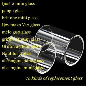 Ijust 2 pangu brit one Ijoy maxo v12 melo 300 griffin 25 plus nautilus 2 obs engine nano Tubo trasparente in vetro trasparente Pyrex