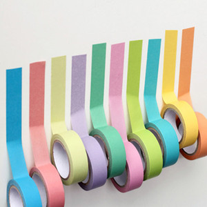 Papel de rolo gravável Washi Masking Tape Rainbow Colors pegajoso adesivo 2016