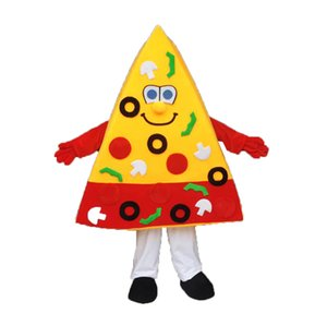 Pizza Mascot Costumes Cartoon Character Adult Sz 100% Real Picture