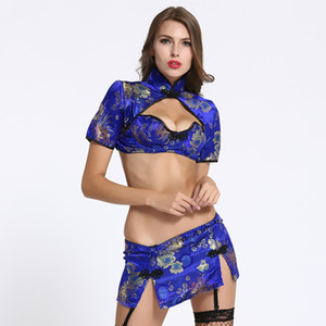 Lingerie sexy robe de club de lingerie de tentation Cheongsam Vêtements exotiques Babydolls Chemises costumes sexy femmes sous-vêtements chauds