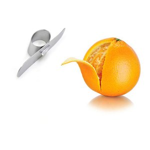 1PC in acciaio inox Orange Peeler Parer Tipo di dito Apri Orange Peel Dispositivo arancione Gadget da cucina LB 073