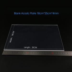 Blank 4 millimetri Piastra in acrilico per la lampada ottico 3D rettangolo LED 18 centimetri largo 25 cm trasporto del commercio all'ingrosso