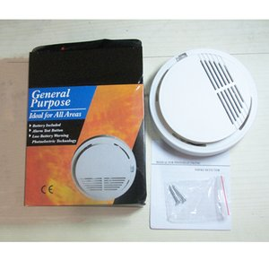 retail package 85dB independent Photoelectric sensitivity fire alarm smoke detector for warehouse bank - wholesale with battery