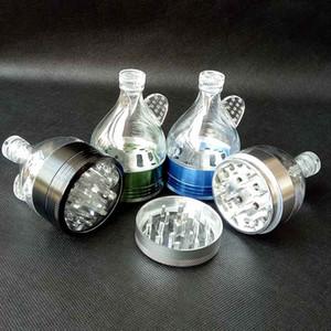 Alüminyum Metal Huni Değirmenleri 4 Parçaları 4 renkler Tütün Herb Spice Kırıcı El Kraker Muller ot değirmeni Sigara Araçları