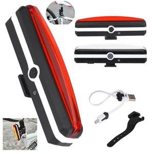 Toptan-dünya-rüzgar # 3011 USB Şarj Edilebilir LED Bisiklet Bisiklet Bisiklet Ön Arka Kuyruk Işık 6 Modu Lamba Set ücretsiz kargo