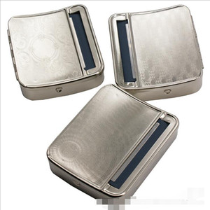 camuffamento metallo Tobacco Rolling Machine Box caso Roller sigaretta maniglia Fumo Caso 78 millimetri in acciaio inossidabile paper Strumenti regalo