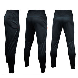 NEW 2017 Brand Mens Sportwear Athletic Football Soccer Training Sweat Skinny Pants gym running Casual Trousers Black HOT