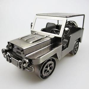 Handgefertigte Iron Art Jeep Wrangler Geländewagen Auto-Styling-Simulation Metall-Automodell - Sammlung Diecast Auto-Modell-Spielzeug für Männer