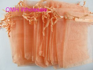 OMH vende al por mayor 50 unids azul marino rosa verde 13x18 cm bonito chino voile Boda de Navidad bolsa de regalo de Organza Bolsas Jewlery Regalo Bolsa BZ12-2