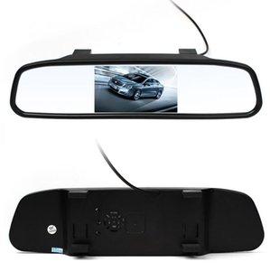 Hot 4.3 polegada Car Lcd Traseira do Espelho retrovisor Monitor de Câmera de Vídeo CCD de Estacionamento Automático Assistência LED Night Vision Invertendo