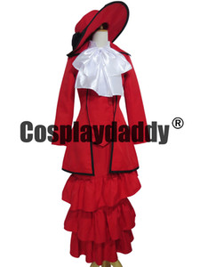 Black Butler Kuroshitsuji Red Madame Robe Rouge Cosplay Costume