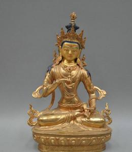 12 '' China Tibet Vajrasattva Buddha Bronze Statue