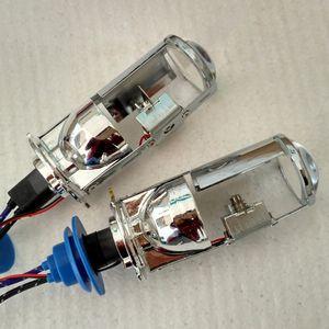 35W universel Mini H4 bi-xénon Hid ampoules xénon DHI lentille projecteur HID Lampes pour phare de voiture lumière avec faisceau de câbles