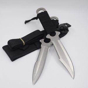 US Leggings Knife Diving Knife Outdoor Tactical Survival Knives 420C Acciaio inossidabile Strumento di Campeggio Lama Fissa Dritto Coltelli Da Caccia