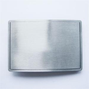 Hombres Belt Buckle Nuevo Rectángulo Vintage Hebilla de cinturón en blanco para Grabado Dibujo Gurtelschnalle Boucle de ceinture BUCKLE-T076 Nuevo