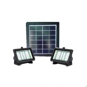 2 in 1 pannello solare da 4,5W 48LEDs Lampada solare da parete a LED per esterni