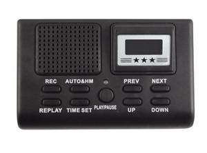 مصغرة الرقمية تسجيل صوتي الهاتف مكالمة هاتفية مراقب مع شاشة LCD وظيفة على مدار الساعة دعم بطاقة SD المسجل الإملاء الهاتف