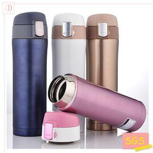 ücretsiz gönderim termo Toptan-SGS 500ml Kupa Paslanmaz Çelik Şişe Vakum şişeler Termoslar garrafa termica infantil Şişem