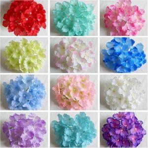 Forniture Heads Nuovo fiori artificiali Hydrangea fiori decorazione della festa nuziale di simulazione falso Capolino decorazioni domestiche HH7-165