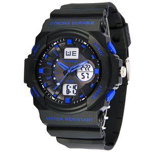 Synoke Mode Multi Hommes Montres Analogique Numérique LED Hommes Montre Alarm Date Sports Militaire Montre-Bracelet Rétro-Éclairage Montre-Bracelet