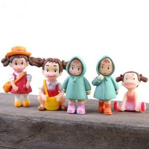 Cartoon Totoro Fairy Garden Miniatures Cute Resin Mini Figurines DIY Craft Ornament Micro Landscape Garden Decoration