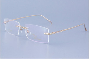 New arrival Concise style male glasses frame quality Titanium alloy rimless gold silver gungray light & durable wholesaleTP9543