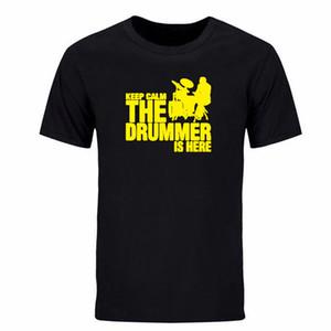 Erkekler Yeni Bir davulcu ve Pamuk Adam T gömlek baskı davul Kısa Kollu Casual Keep Calm T Gömlek Boyut S-XXXL DIY-0265D Tops