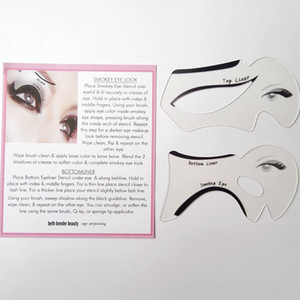 2 unids Perfect Eye Eye Smokey Maquillaje Eyeliner Modelos de Plantilla Parte Superior de Fondo Eyeliner Tarjeta Herramientas Auxiliares Plantillas de Cejas ZA2024