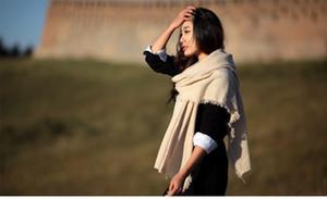 2016 nouvelle laine tout usage bande tricot écharpe pashmina automne hiver femmes écharpes châle Rainbo 200 cm