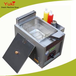 freidora de chips de gas Single Tank Gas Deep Fryer Machine Freidora de pollo Stainless Steel Fry Basket Commercial