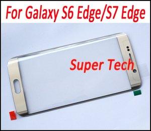 Para galaxy s7 edge oem substituição da tela de toque de vidro da tela de vidro da lente da frente outer kit de reparo para galaxy s6 edge s7 edge