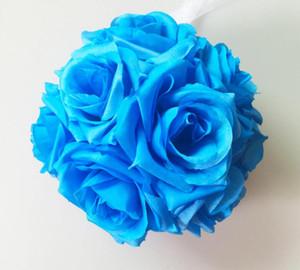 웨딩 파티 장식 장식 꽃 (13) 컬러에 대한 친환경 인공 실크 장미 꽃을 볼 결혼식 중앙 장식품 Pomander 꽃다발