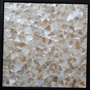 [FREE SHIPPING] Irregular pattern Mother of pearl shell mosaic Tile ,Natural color , seamless tile, MgO board backer#MS145