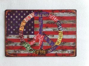 Флаг США жестяной знак старинные дома бар паб отель ресторан кофейня главная декоративные металлические ретро плакат олова знак