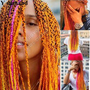 "Beauty Ultra Braid 82"" 165G 3pcs lots Synthetic Hair For Braids Fasle Bulk Box Braiding Hair Orange Yellow"