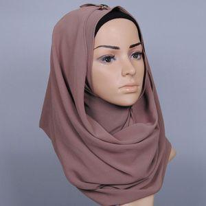 Atacado-23 Cor Praia Sarongs Chiffon Bolha Instantâneo Hijab 2017 Mais Recente Headband Xaile Echarpe Foulard Envoltório Baixada Muçulmano Sjaal Cap