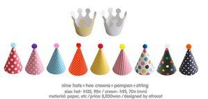 11 unids / set Fiesta Celebración Coreana Linda Sombreros de Fiesta Sombrero de Cumpleaños Fiesta Fija Artículos de Fotografía Decoraciones de Fiesta de Cumpleaños Niños