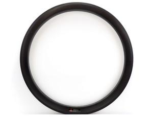 Envío libre 700C 50mm Ruedas de carbono de Profundidad 25mm Ancho Carbono único Rim Clincher Road Bicycle Rim 3k / UD tejer