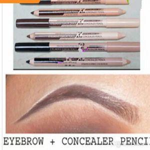 Nueva maquiagem caliente ceja de ojos Menow maquillaje doble función lápices de cejas corrector lápices maquillaje envío gratis