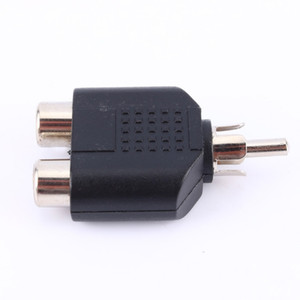 Freeshipping 20 unids / lote 2 en 1 RCA Macho a 2 RCA Hembra Y Splitter Conectores de Adaptador de Audio
