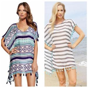 Nappa Bikini Cover Ups Women Fashion Beach Smock Camicetta da donna Sexy Bikini Summer Vacation Beach Abiti larghi Swimwear casual New H108