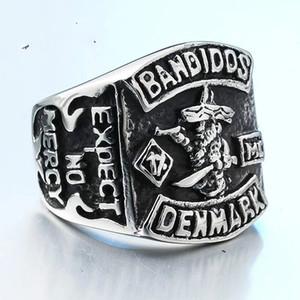 Для HOSCALE Truckstop MC Club Bandidos кольцо из нержавеющей стали 316L ювелирные изделия прохладный дизайн мужские 1% мотор байкер кольцо