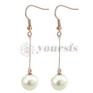 Yoursfs hook dangle chain earring with pearl 6cm long dangling earring for women