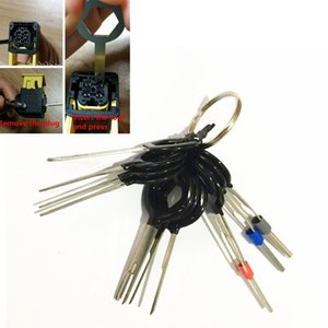 Removeel Key Tool Kit 11 pcs Car Electrical Terminal W الأسلاك تجعيد موصل دبوس