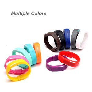 LED Silicone Wrist Watch Ultra Wristbands Outdoor Rectangle Digital Touch Gym Bracelets Waterproof Screen Rubber Running Belt Sports Th Edti