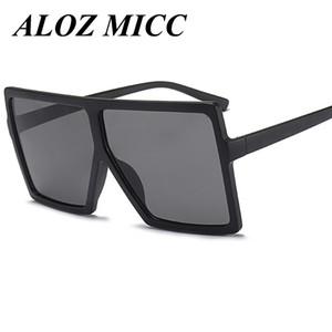 ALOZ MICC Gafas de sol de diseño para hombre Moda Oversize Square Gafas de sol femeninas 2017 Mujeres Flat Top Retro Eyewear UV400 A328