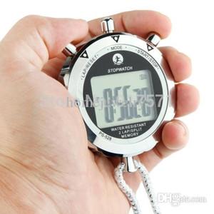En gros-PS528 Chronomètre en métal Chronographe professionnel Handheld LCD numérique compteur compteur avec sangle