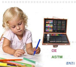 Çocuklar moda kırtasiye boya kalem seti, çocuk sanat yazma araçları seti, DIY kalem çalışma seti